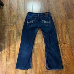 Beautiful Big Star Remy low rise boot jeans